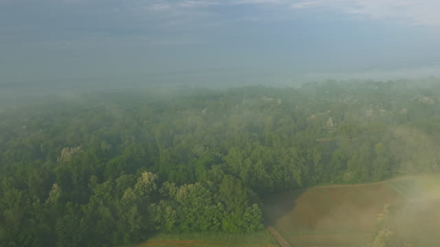 aerial countryside along the river - prekmurje stock videos & royalty-free footage