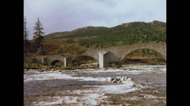 1981 countryside around aberdeen, scotland - aberdeen schottland stock-videos und b-roll-filmmaterial