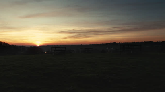 countryside at sunset - channel islands england stock videos & royalty-free footage