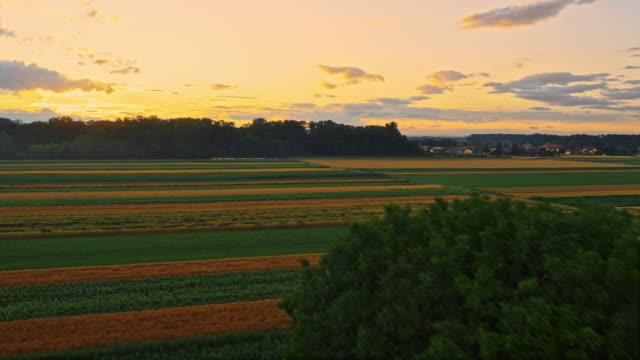 aerial countryside in slovenia - prekmurje stock videos & royalty-free footage