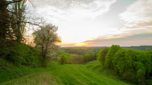 t/l countryside in the evening sun - prekmurje stock videos & royalty-free footage