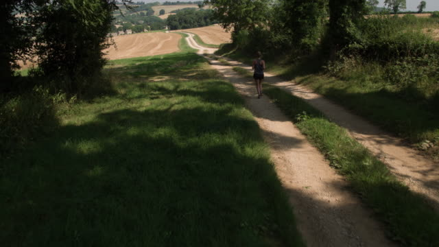 countryside jogger - gloucestershire stock videos and b-roll footage