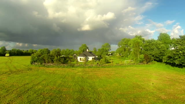 countryside living aerial video - rural scene stock videos & royalty-free footage