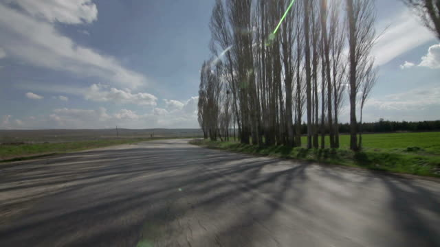 countryside road - moving past stock videos & royalty-free footage