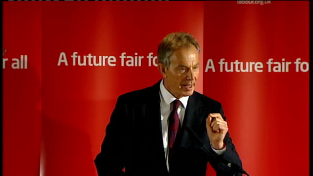 county durham: sedgefield: trimdon labour club: ext car carrying tony blair arriving tony blair departing car as unseen reporter shouts 'can mr brown... - last stock videos & royalty-free footage