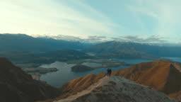 Couple at mountain Roy peak