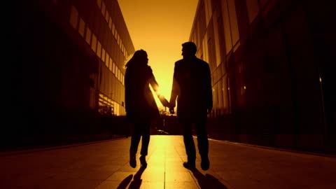hd slow-motion: couple at sunset - falling in love stock videos & royalty-free footage