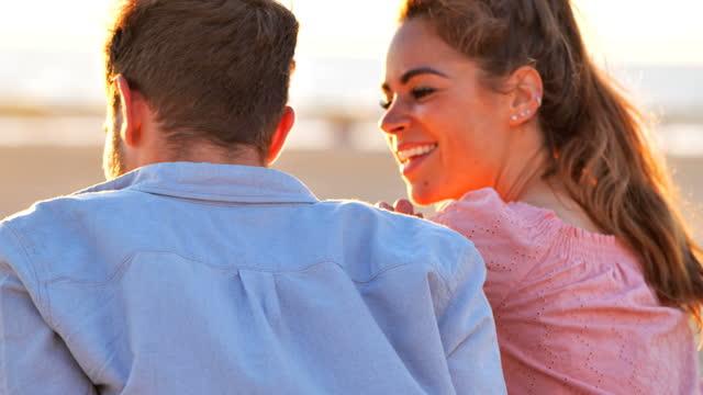 couple at the beach: venice beach, california - picnic stock videos & royalty-free footage