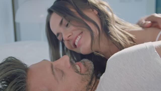 couple awaking - waking up stock videos & royalty-free footage