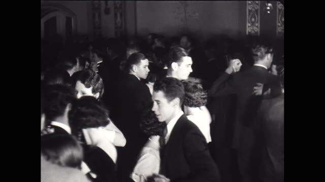 vídeos y material grabado en eventos de stock de ws pan couple ballroom dancing / united states - arts culture and entertainment