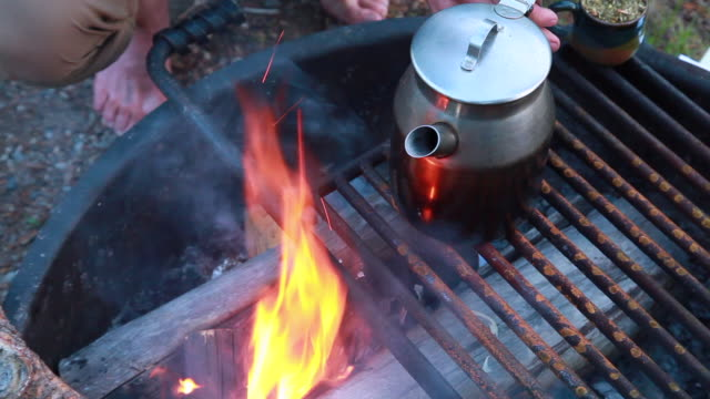 couple camping - yerba mate stock videos & royalty-free footage
