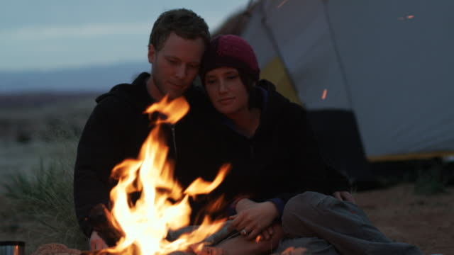 couple camping - young men stock videos & royalty-free footage