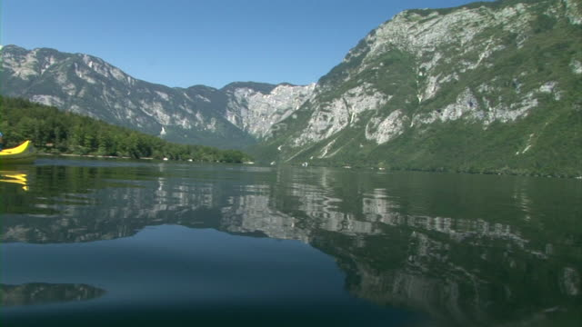 hd: couple canoeing - triglav national park stock videos and b-roll footage