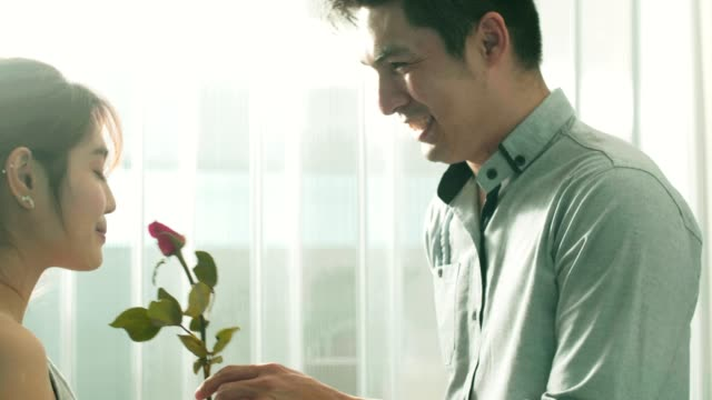 couple celebrates valentine's day - seduction stock videos & royalty-free footage
