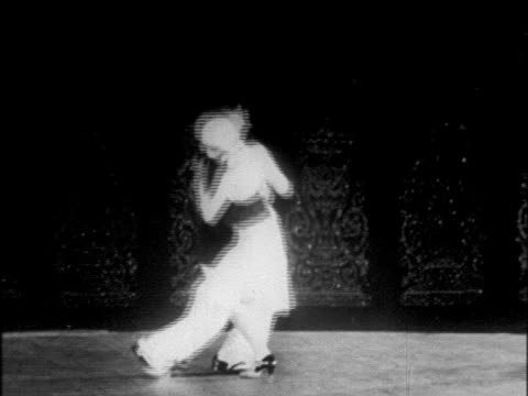 B/W 1925 couple dancing on stage / Chicago / newsreel