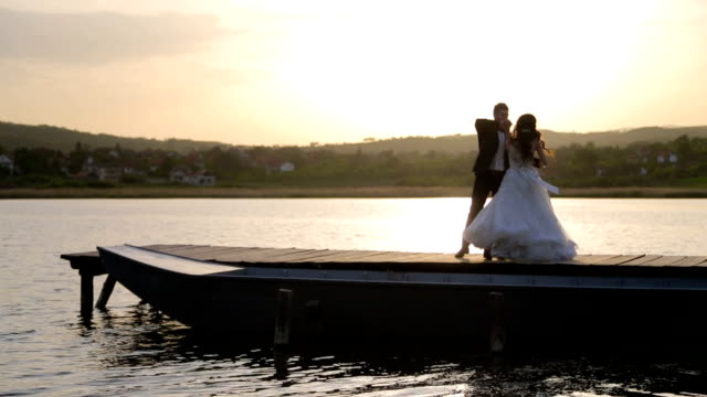 couple dancing on wedding day - married stock videos & royalty-free footage