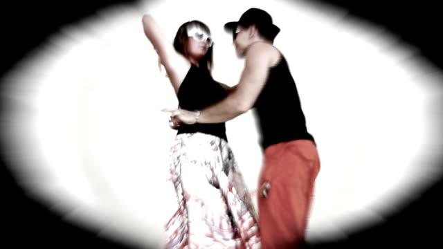 couple dancing salsa - salsa stock videos & royalty-free footage