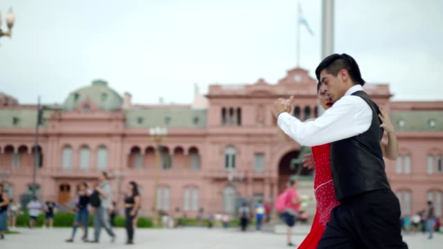 couple dancing tango - tangoing stock videos & royalty-free footage