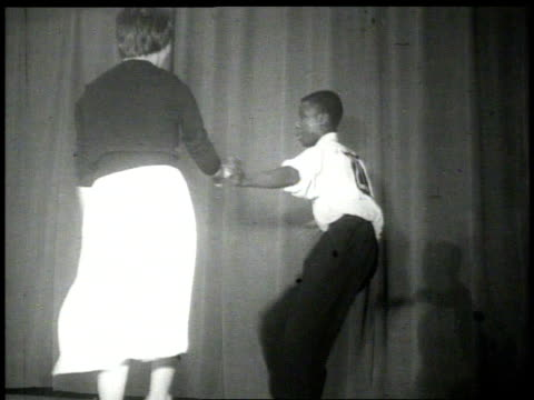 1926 cu couple dancing the lindy hop on stage  - 1926 stock videos and b-roll footage