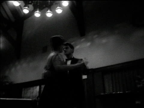 / couple dancing together shots from various angles / silhouette of face of woman at Kino Club / waiter serving Reception at Hélène de Champlain...