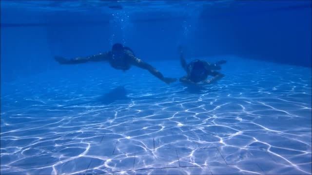 Couple Diving