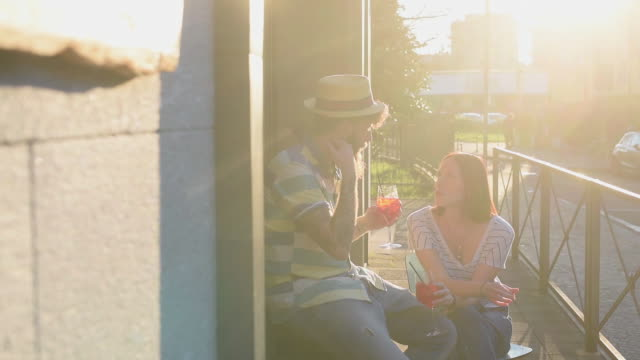couple drinking cocktails - veranda stock videos & royalty-free footage