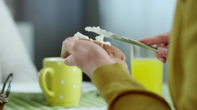 couple eating breakfast - spread food stock videos and b-roll footage