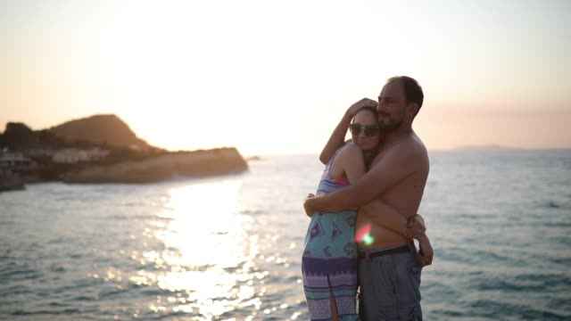 couple enjoying their honeymoon - semi dress stock videos & royalty-free footage