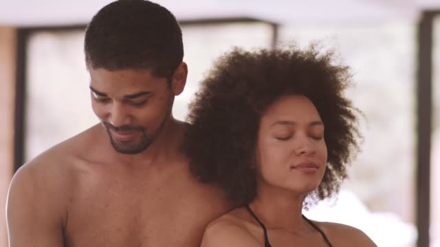 couple enjoying together at spa - mid adult couple stock videos & royalty-free footage