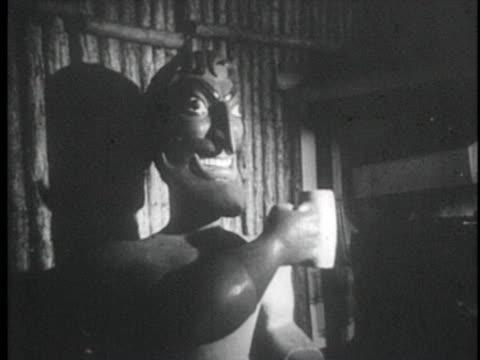 couple enters blackbeard's tavern, interior decorations. - bahamas stock videos & royalty-free footage