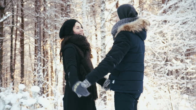 Couple Enyoing Winter