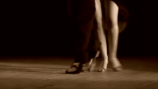 couple feet perform tango - tango dance stock videos and b-roll footage