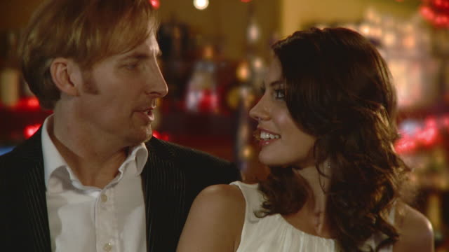 cu couple flirting in bar, jacksonville, florida, usa - flirting stock videos & royalty-free footage