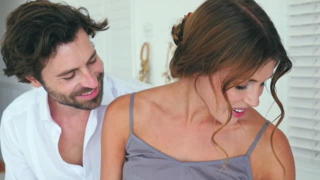 couple flirting - kamisol stock-videos und b-roll-filmmaterial