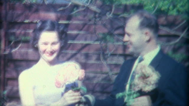 couple flowers 1958 - bouquet stock videos and b-roll footage