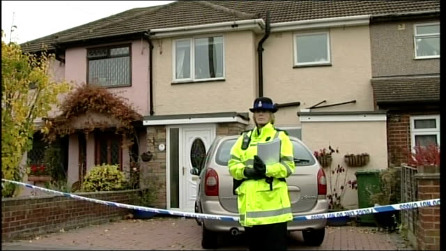 couple found dead in their home after suspected carbon monoxide poisoning england essex wickford ext police officer guarding entrance to home of... - carbon monoxide stock videos & royalty-free footage