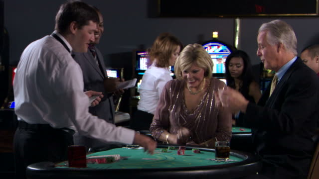 couple gambling - casino people stock videos & royalty-free footage