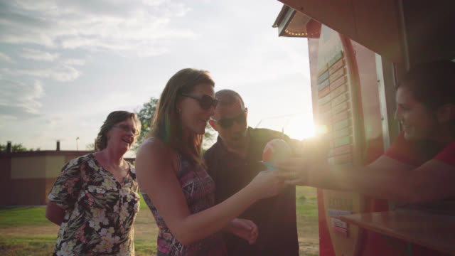 couple gets shave ice - concession stand stock videos and b-roll footage
