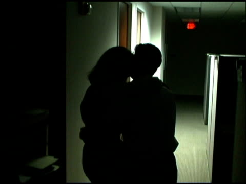Couple having work romance