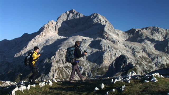 hd: couple hiking - triglav national park stock videos and b-roll footage