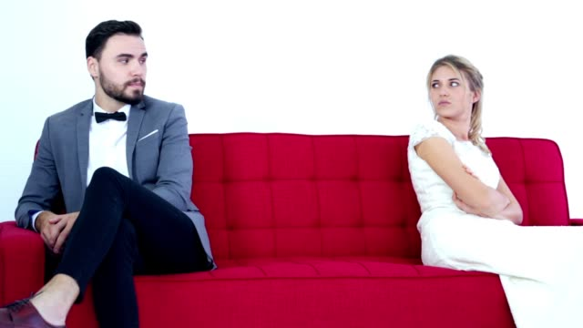 couple in bad mood, with relationship problem - divorce stock videos & royalty-free footage
