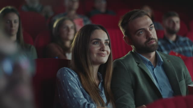 couple in cinema - cinema stock videos & royalty-free footage