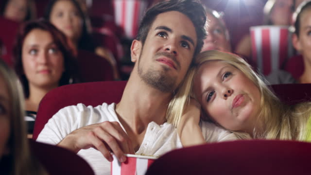 couple in cinema - film industry stock videos & royalty-free footage