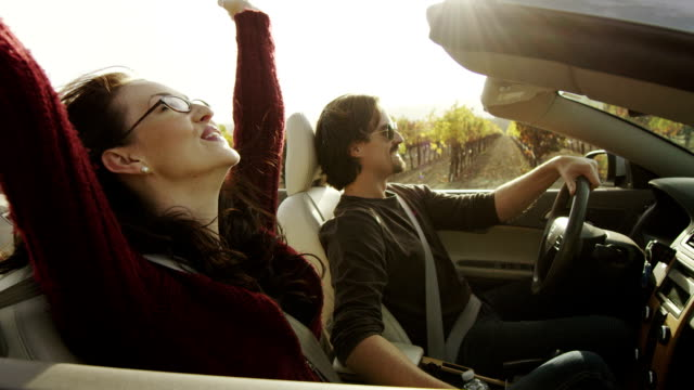 couple in convertible - convertible stock videos & royalty-free footage