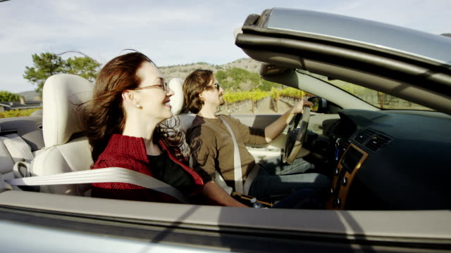 couple in convertible - honeymoon stock videos & royalty-free footage