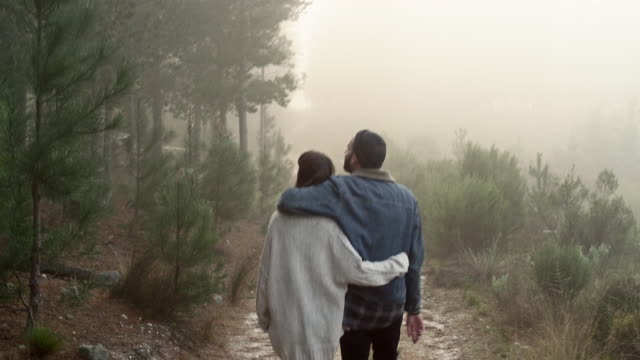 couple in forrest - hipster stock videos and b-roll footage