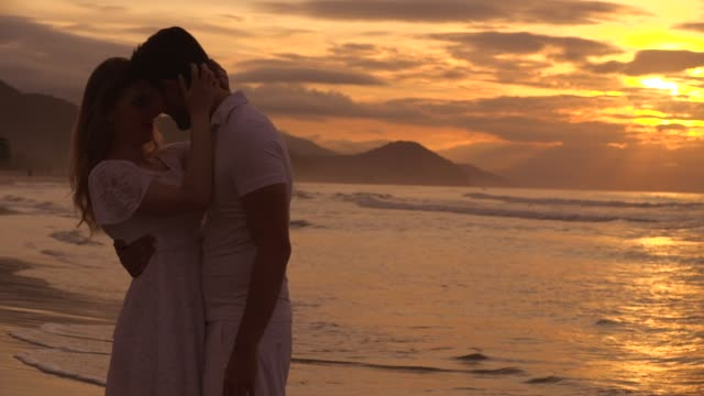 couple in love at beach - flirting stock videos & royalty-free footage