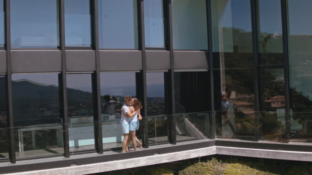 Couple in luxury house