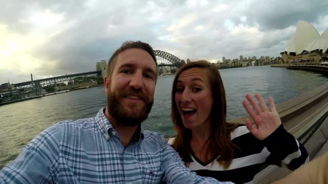 Coppia di Sydney Porto selfie in al rallentatore