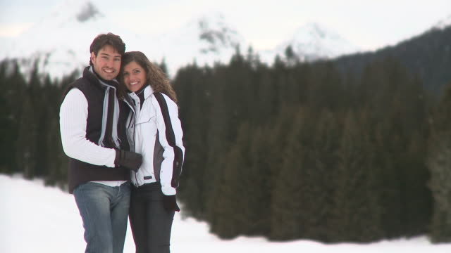 hd: couple in the winter - hair stubble stock videos and b-roll footage